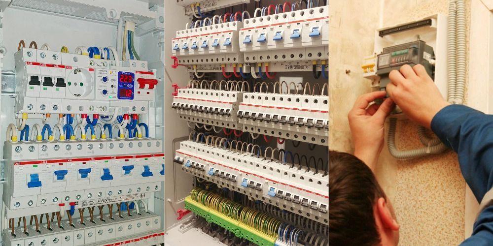 Профессиональная установка счетчиков и автоматов, сборка щитов